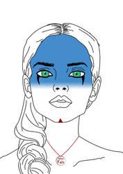 Some blue make-up