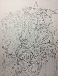 Rogue Zero Evolved Bakugan Sketch