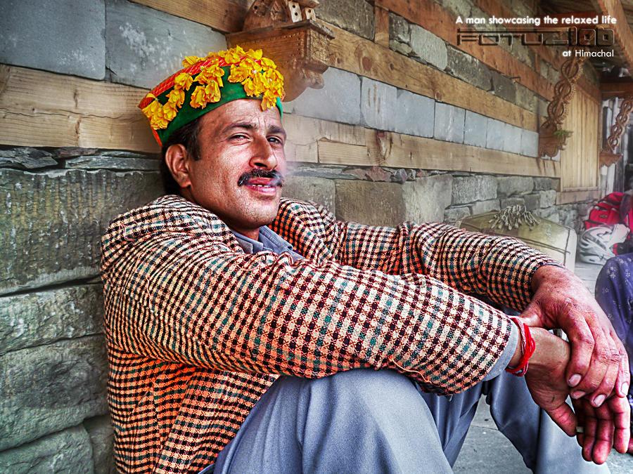 A man at prashar by fotuzlab