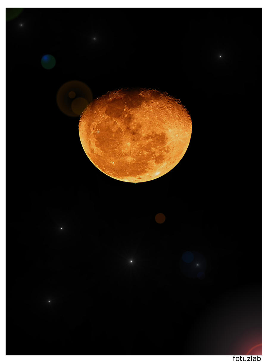 Moon from Earth II by fotuzlab