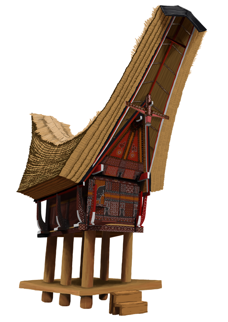 Kartun Pakaian Adat Toraja