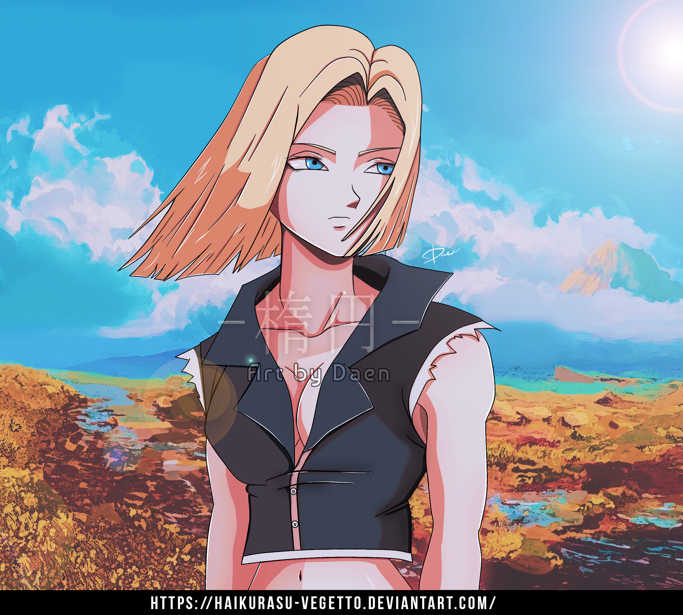 Android 18 And Tail Deviantart: Android 18 By Haikurasu-Vegetto On DeviantArt