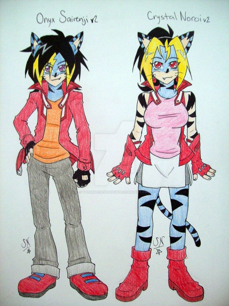 The Twin Protagonists by Yami-Sonic