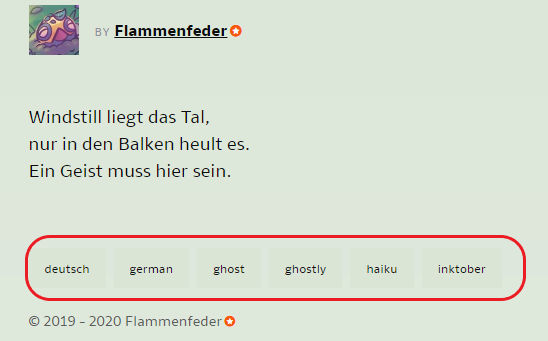 Tags(Neu) by Flammenfeder
