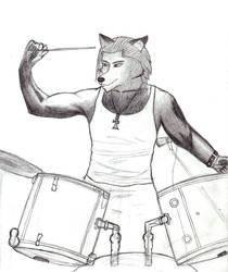 Lobo baterista WIP by xxWildFangxx