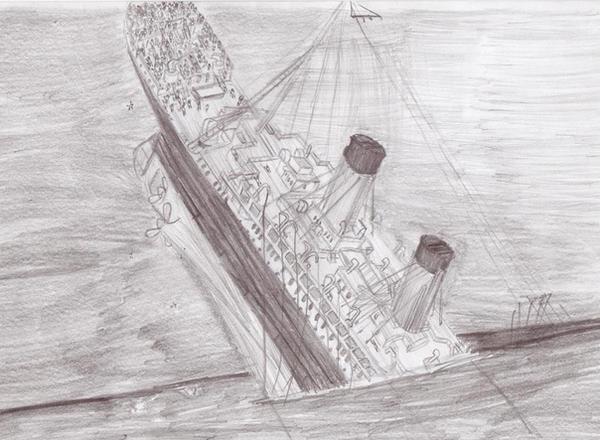Titanic Sinking By Genbe89 On Deviantart