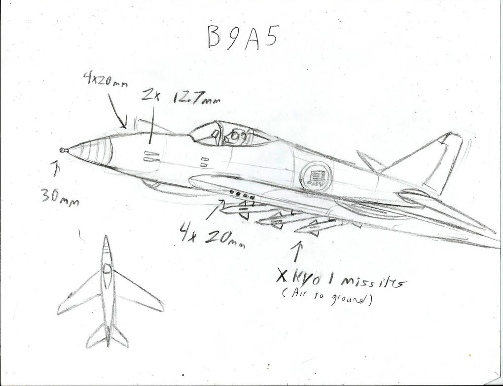 B9A5 attack plane by Genbe89