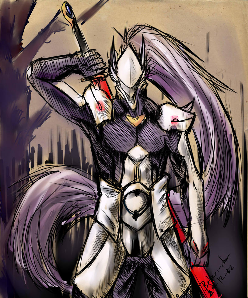 Hakumen Speed draw by Betsuni-chan