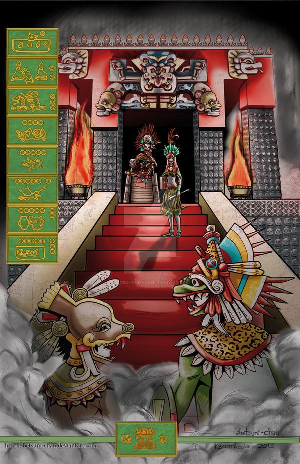 quetzalcoatl and Xolotl in Mictlan by Betsuni-chan
