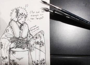 Tobirama's furisode by Betsuni-chan