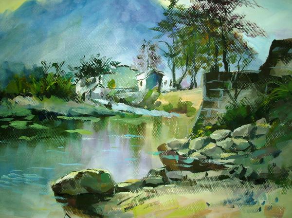 paintings  scenery by ANDIBLACK
