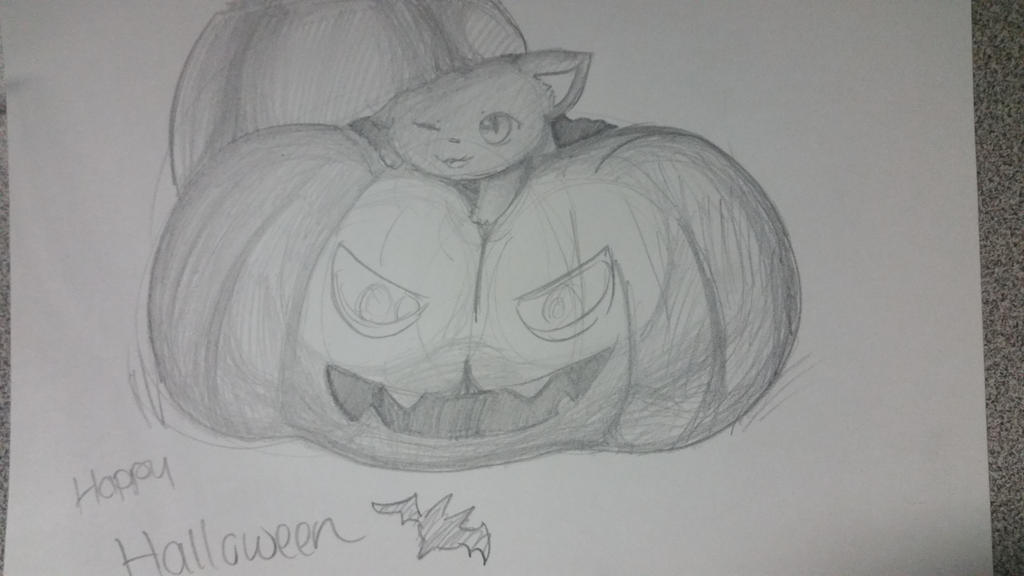 Bored Drawing #5 [Halloween] by Kuribelle