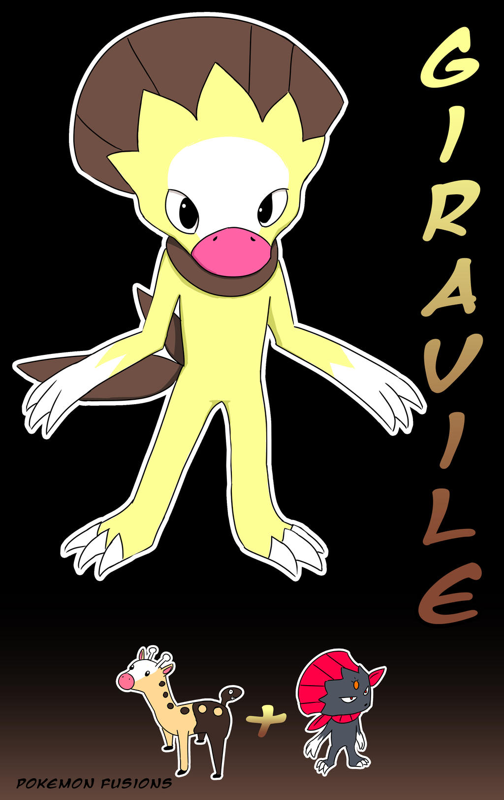 Pokemon Fusions #1 - Giravile by Kuribelle