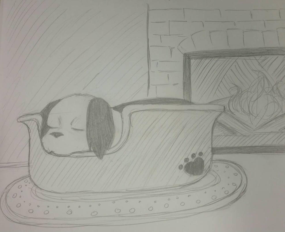 Sleeping Puppy by Kuribelle