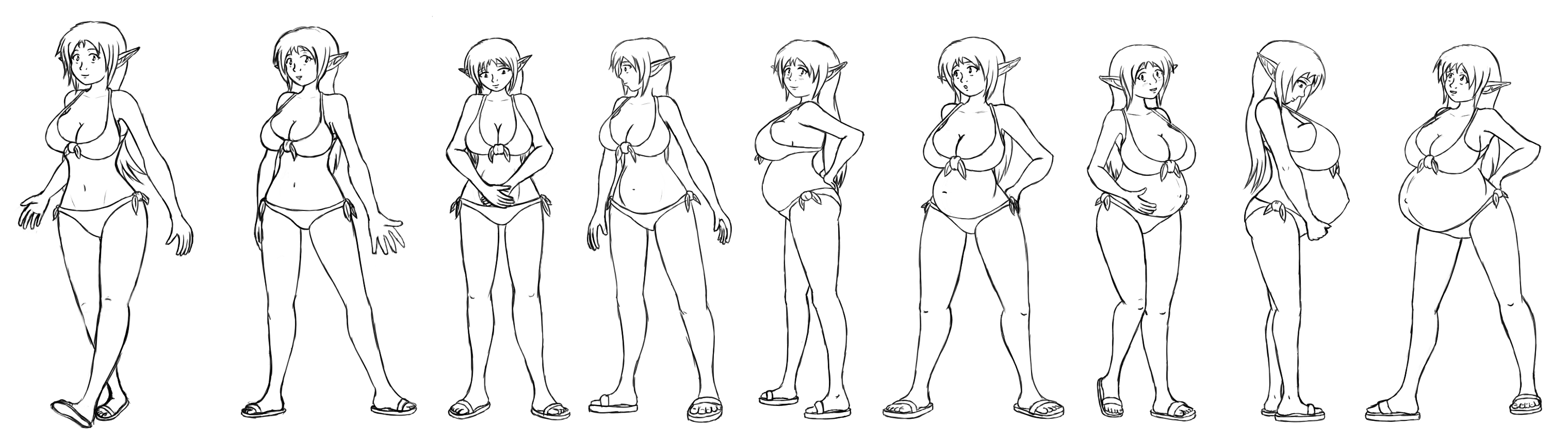 Faunas size chart by himitsudragon on deviantart seras excellent adventure by hidonredux nvjuhfo Image collections