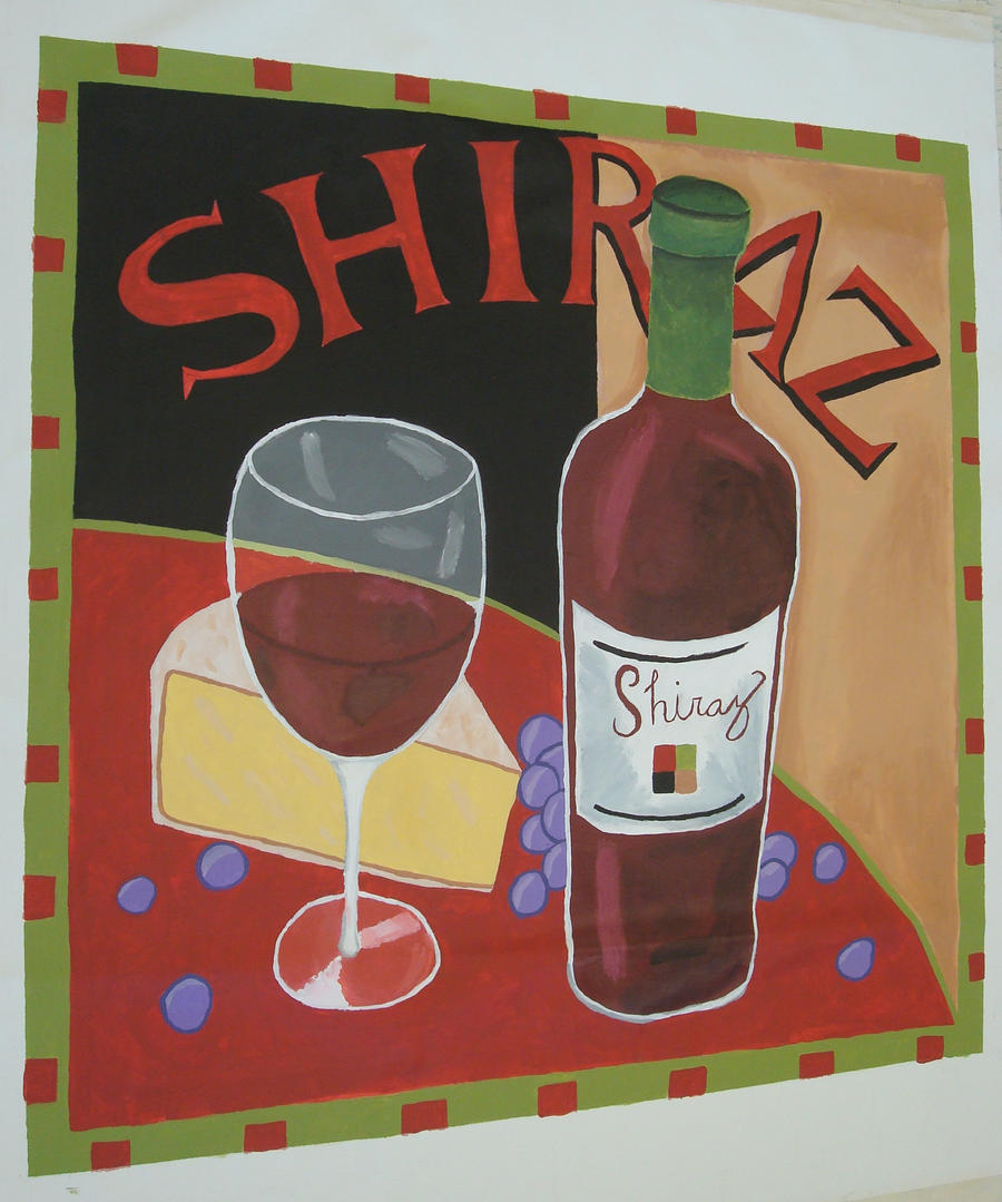 Shiraz Vintage Wine Poster by SushiSprinkles on DeviantArt