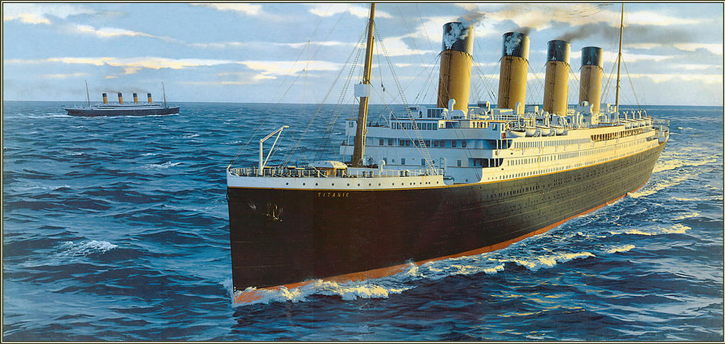 Titanic And Olympic By Kipfox32 On Deviantart