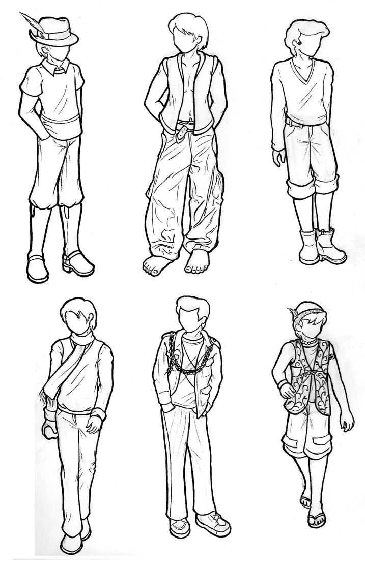 Modern Disney Boy Lineart By CaptBeans On DeviantArt