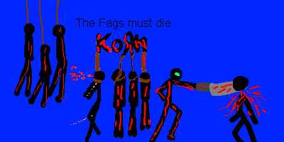 KoRn kill the faggots (blue) by Eack1960