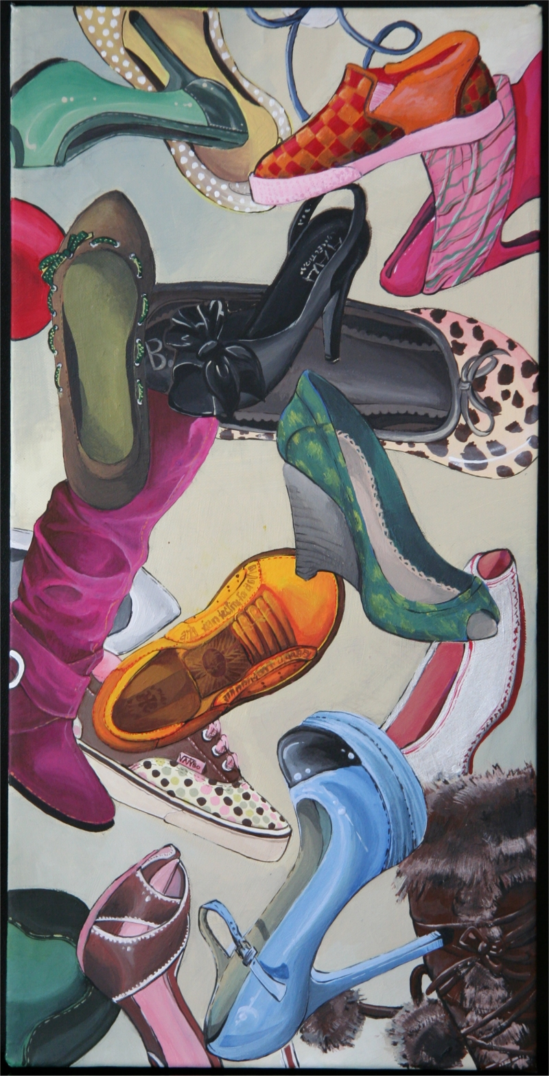 acrylics shoe collage by katchn on deviantart