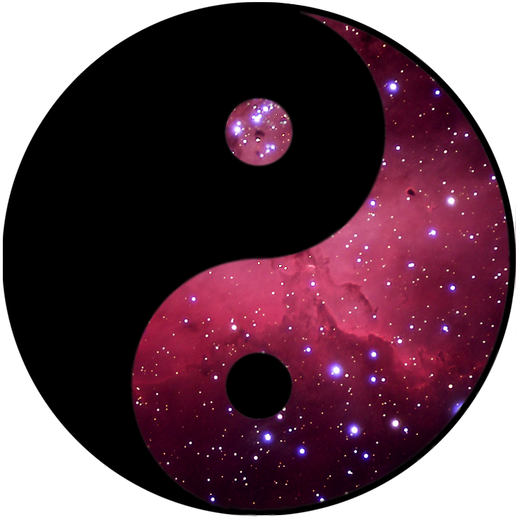 Yin and Yang...space edition by Toobworm on DeviantArt