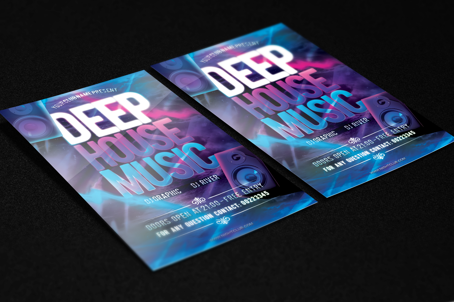 music flyers templates free