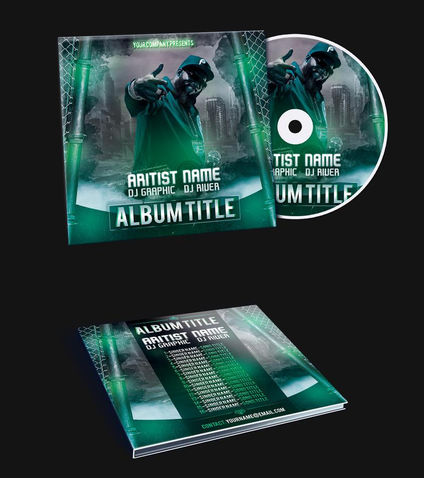 Rap hip hop album mixtape cd cover psd template by klarensm on deviantart for Mixtape cd cover