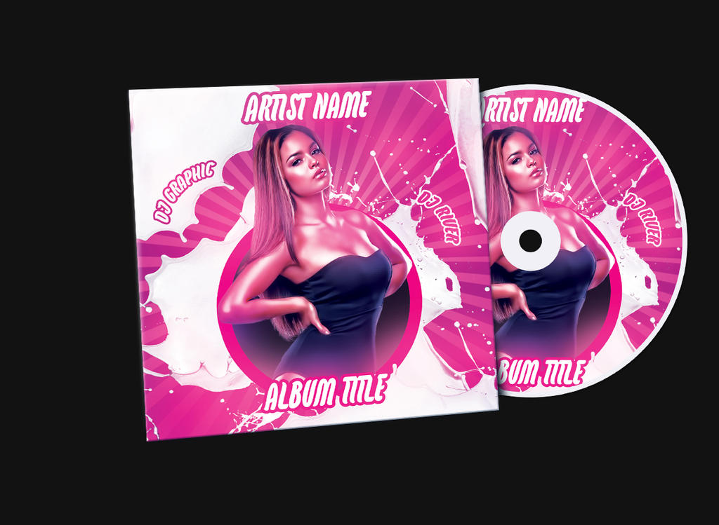 Pink Girl Album Mixtape CD Cover PSD Template by KlarensM on – Psd Album Cover Template