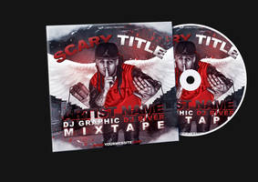 Red Hip Hop Mixtape/Album CD Cover PSD Template by KlarensM