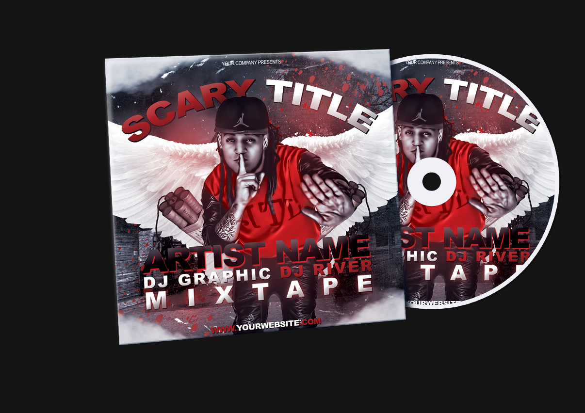 Red Hip Hop MixtapeAlbum CD Cover PSD Template by KlarensM on – Psd Album Cover Template