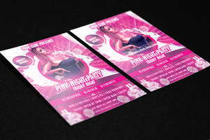 Pink Friday Party Flyer PSD Template by KlarensM