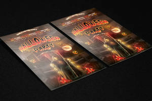 Halloween Party Flyer Template by KlarensM