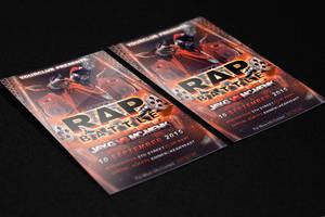 Rap Battle Flyer PSD Template by KlarensM
