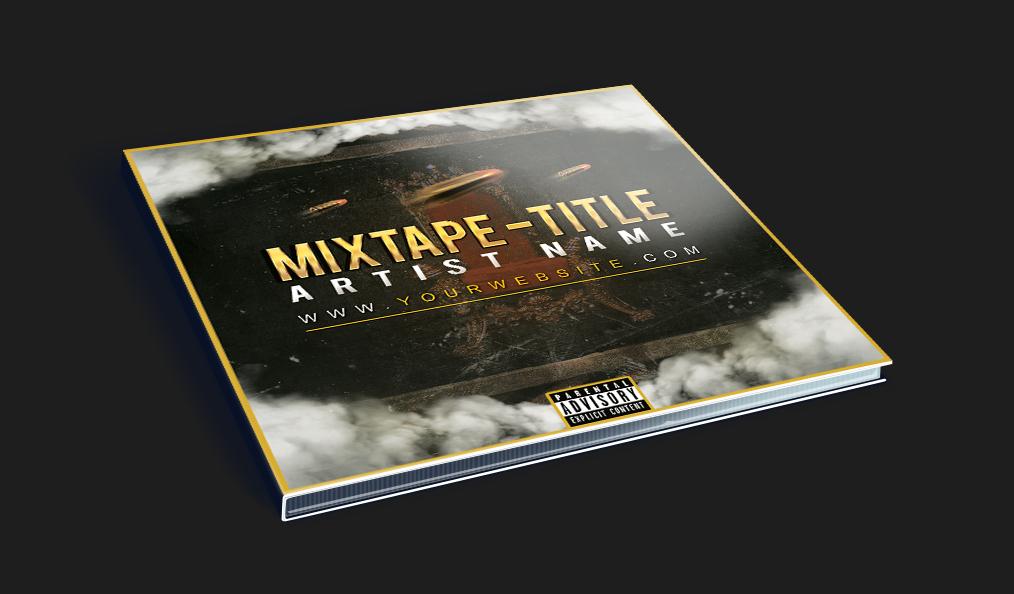 Simple mixtape cd cover template by klarensm on deviantart for Free mixtape templates