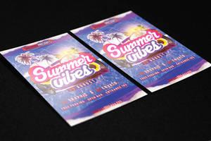 Summer Vibes Flyer Template by KlarensM