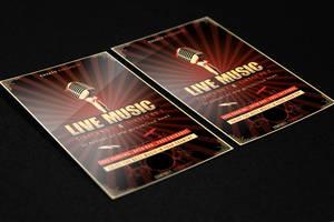 Live Music Flyer PSD Template by KlarensM