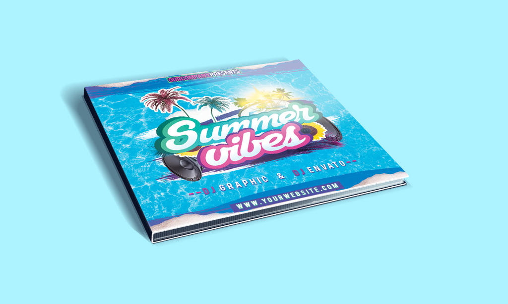 Summer Vibes CD Cover PSD Template by KlarensM