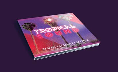 Tropical Sound CD Cover PSD Template