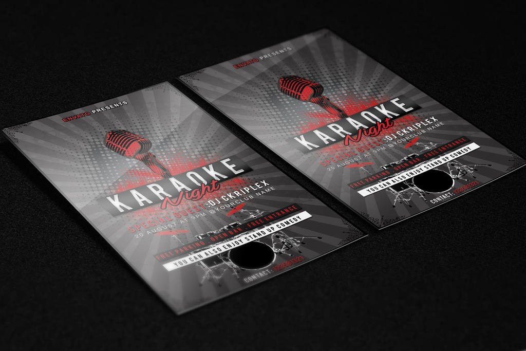 Karaoke Night Flyer Template PSD File By KlarensM ...