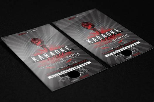 Karaoke Night Flyer Template PSD File