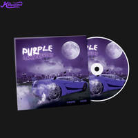 Purple Lamborghini CD Cover Artwork PSD Template