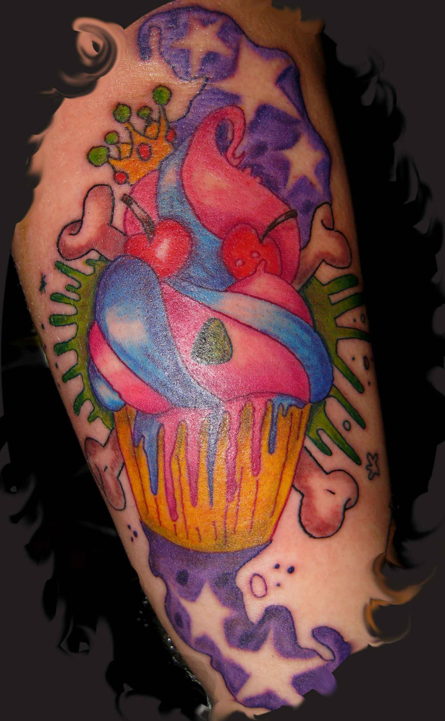 evil cup cake tattoo by oldboot1 on DeviantArt
