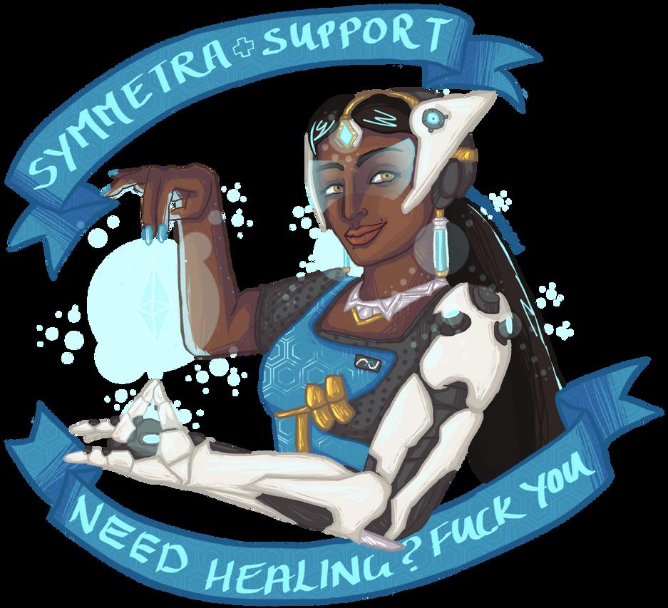 Symmetra + Support by kuroiMarzipan