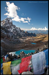 Gangla Karchung from the pass by Dominion-Photography