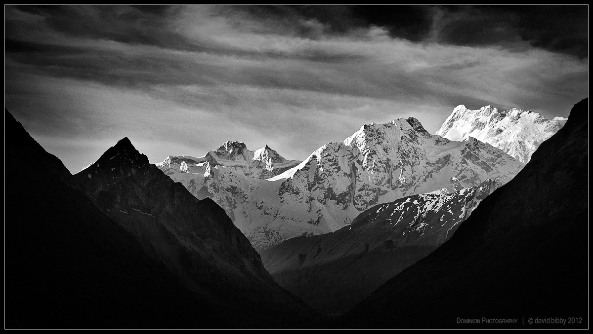 Simnang and Manaslu Himal by Dominion-Photography