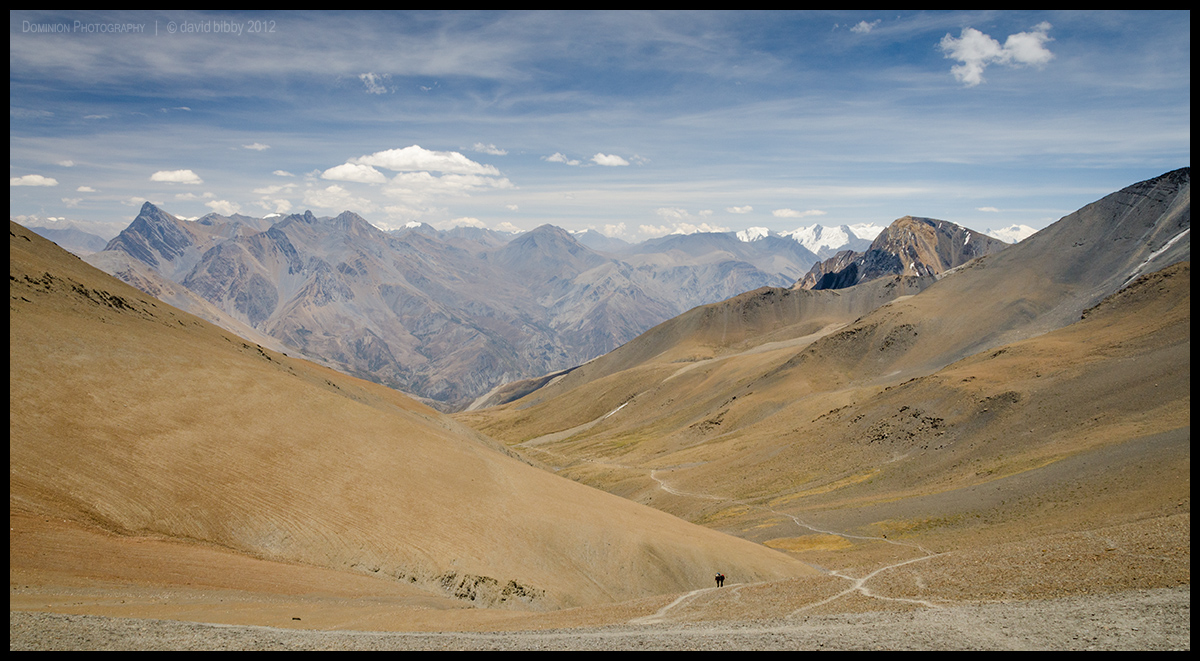 Trekkers climbing to cross Chan La (5378m) by Dominion-Photography