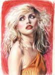 Debbie Harry . pencil . colour
