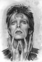 Bowie. blah. monochrome by Bitterkawaii
