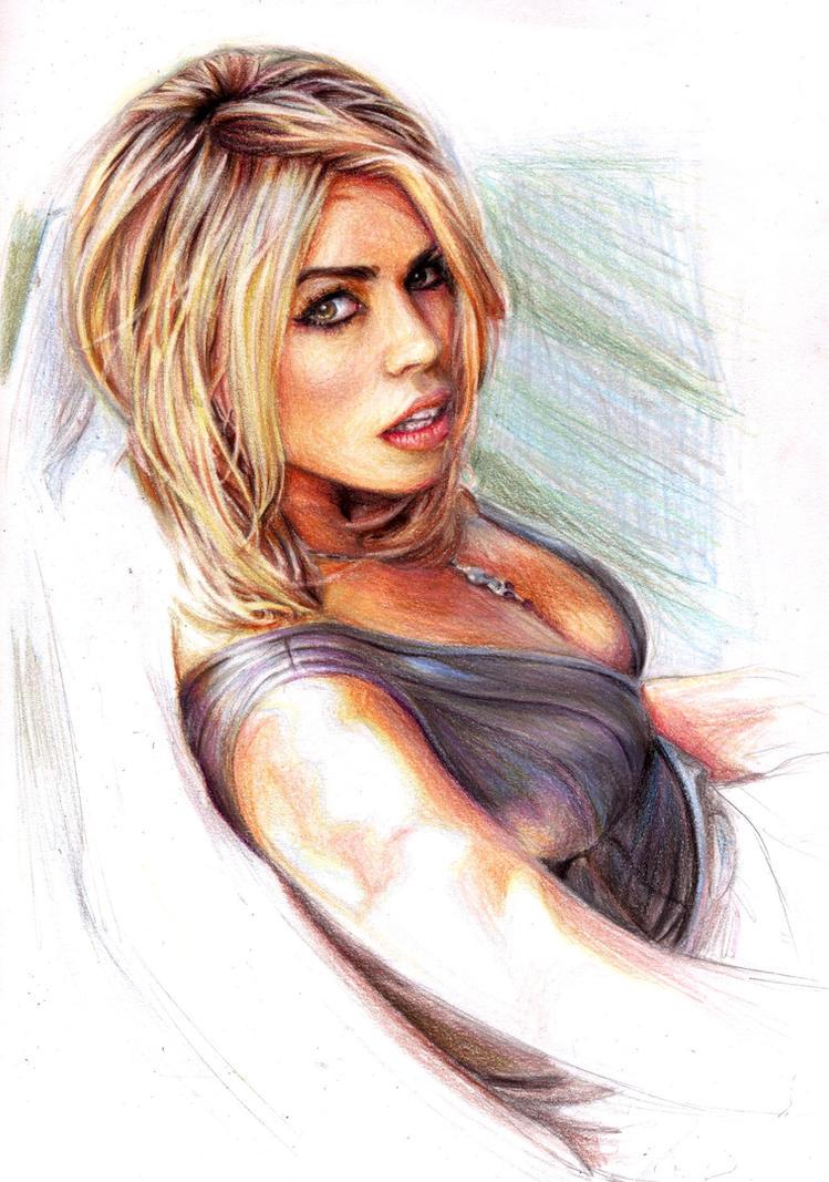 Billie Piper. colour. by Bitterkawaii