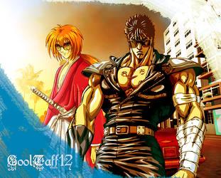 Kenshiro and Kenshin Wallpaper by CoolTaff12